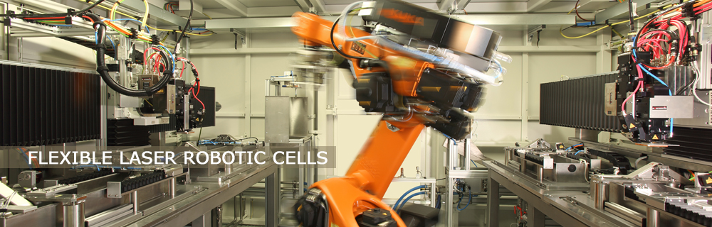 inside view of fully automated laser robot cell